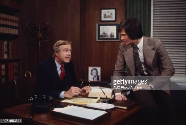 Forrest Compton and cast member appearing on the soap opera 'Edge of Night'