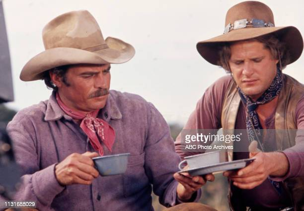 Glenn Corbett Ben Murphy appearing in the Walt Disney Television via Getty Images tv series 'Alias Smith and Jones'
