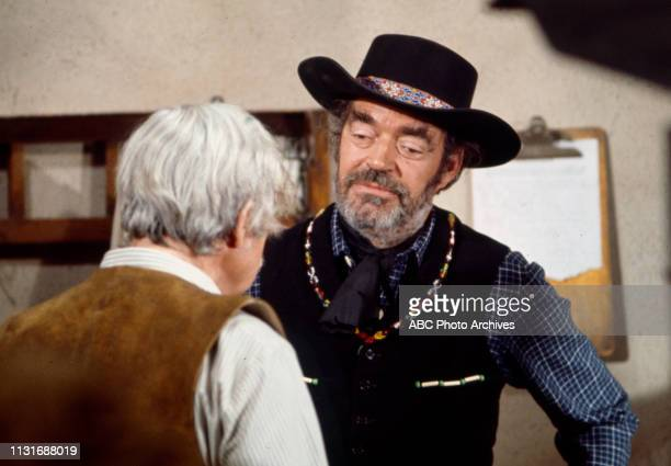Jack Elam appearing in the Walt Disney Television via Getty Images tv series 'Alias Smith and Jones'