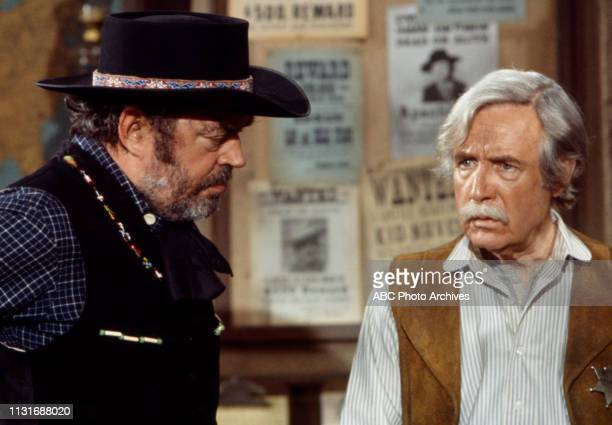 Jack Elam Arthur O'Connell appearing in the Walt Disney Television via Getty Images tv series 'Alias Smith and Jones'