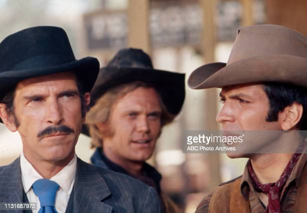 JD Cannon Ben Murphy Frank Sinatra Jr appearing in the Walt Disney Television via Getty Images tv series 'Alias Smith and Jones'