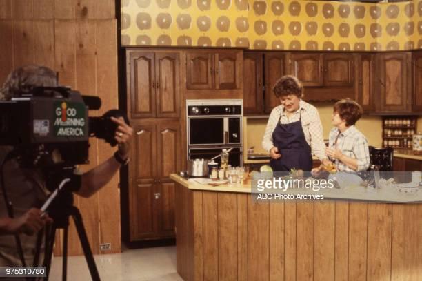Julia Child, Erma Bombeck cooking.