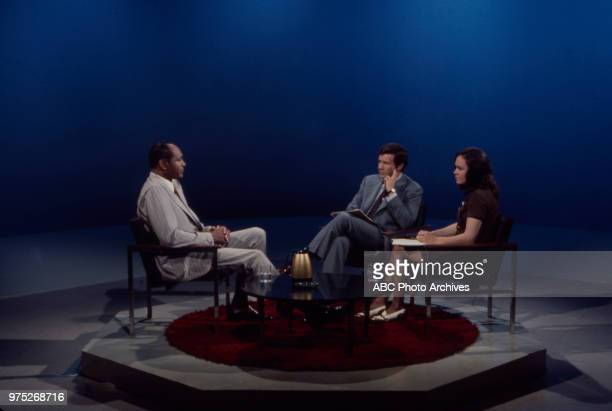 Los Angeles Mayor Tom Bradley Dick Carlson Anne Kaestner appearing on ABC's 'Issues and Answers'