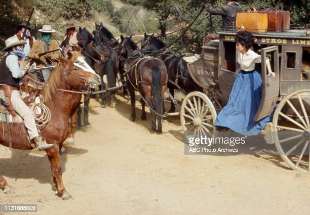 Michele Lee extras appearing in the Walt Disney Television via Getty Images tv series 'Alias Smith and Jones'