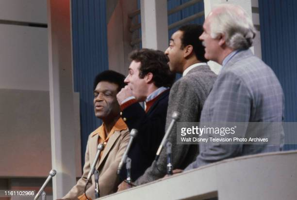 Nipsey Russell talking with contestants on the unsold ABC tv game show pilot 'The Ratings Game'