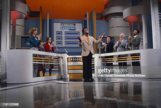 Nipsey Russell with contestants hosting the unsold ABC tv game show pilot 'The Ratings Game'