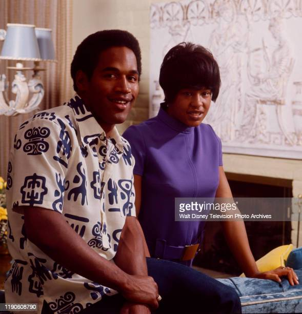 OJ Simpson at home with wife Marguerite Simpson