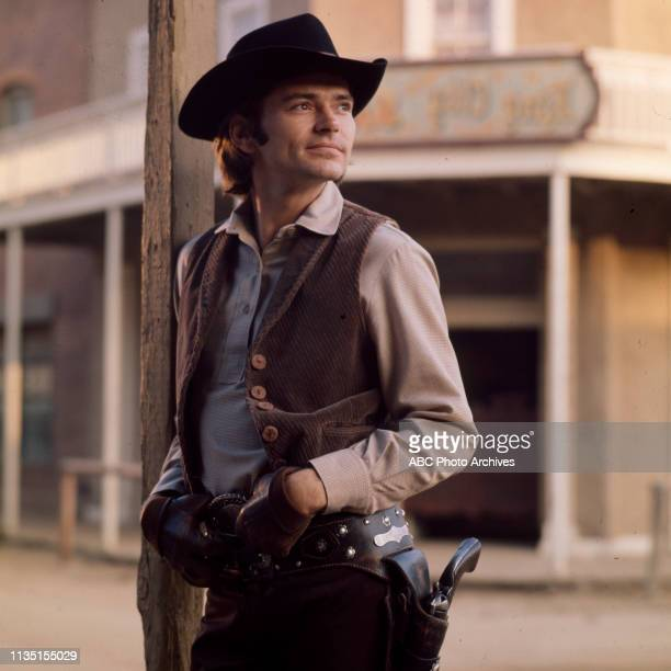 Pete Duel appearing in the Walt Disney Television via Getty Images tv series 'Alias Smith and Jones'.