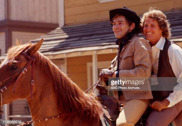 Pete Duel, Ben Murphy appearing in the Disney General Entertainment Content via Getty Images tv series 'Alias Smith and Jones'.