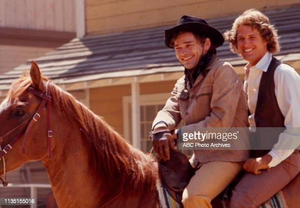 Pete Duel, Ben Murphy appearing in the Walt Disney Television via Getty Images tv series 'Alias Smith and Jones'.
