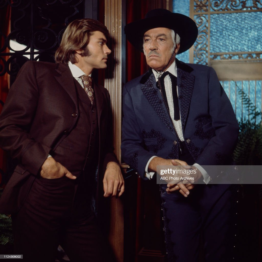 Pete Duel, Cesar Romero Appearing In 'Alias Smith And Jones' : News Photo