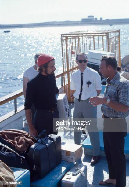 PhilippePierre Cousteau and crew aboard the RV Calypso on 'The Undersea World of Jacques Cousteau'
