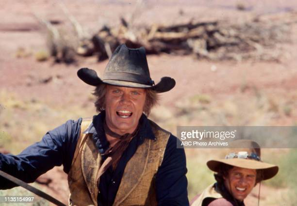 Roger Davis, Ben Murphy appearing in the Disney General Entertainment Content via Getty Images tv series 'Alias Smith and Jones'.