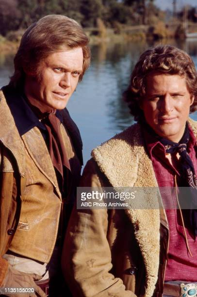 Roger Davis, Ben Murphy appearing in the Walt Disney Television via Getty Images tv series 'Alias Smith and Jones'.