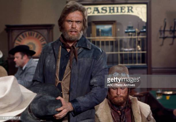Roger Davis Ben Murphy extras appearing in the Walt Disney Television via Getty Images tv series 'Alias Smith and Jones'