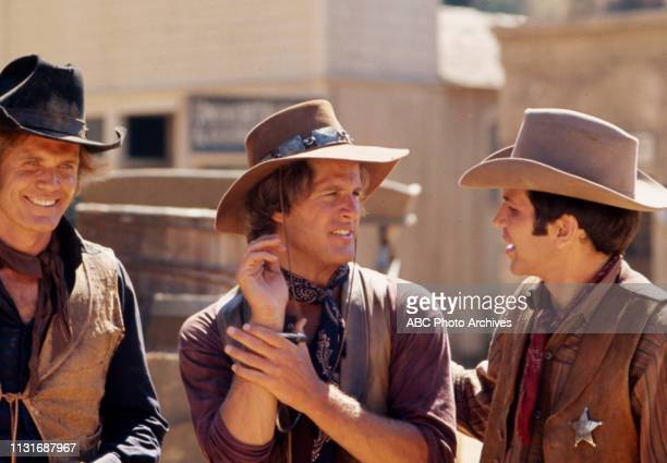 Roger Davis Ben Murphy Frank Sinatra Jr appearing in the Walt Disney Television via Getty Images tv series 'Alias Smith and Jones'