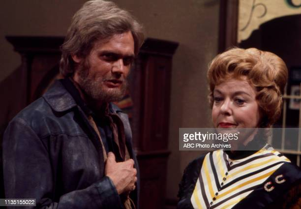 Roger Davis, Ida Lupino appearing in the Walt Disney Television via Getty Images tv series 'Alias Smith and Jones'.