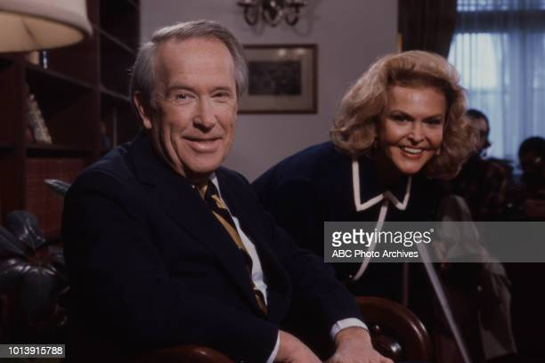 Senator Henry Martin 'Scoop' Jackson Margaret 'Peggy' Whedon appearing on ABC's 'Issues and Answers'