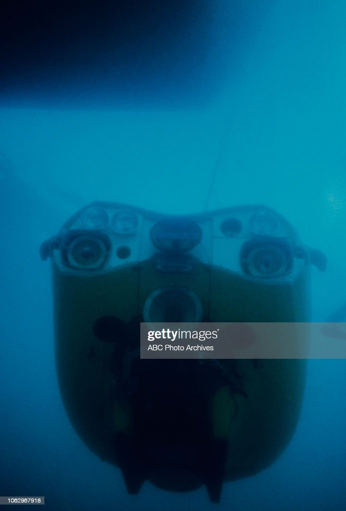 Small submersible / submarine underwater, on 'The Undersea