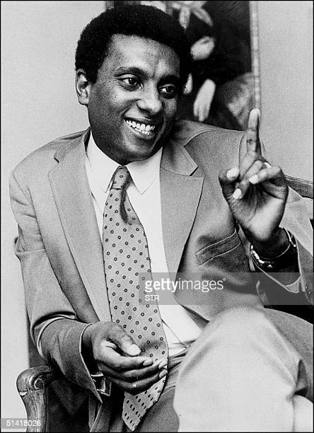 File photo dated 23 January 1969 shows Stokely Carmichael alias Kwame Ture the radical former Black Panther leader who died 15 November in the West...