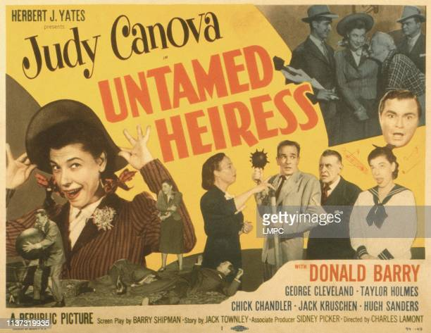 Untamed Heiress poster US poster Judy Canova center from left Ellen Corby Chick Chandler Taylor Holmes Judy Canova Don 'Red' Barry 1954