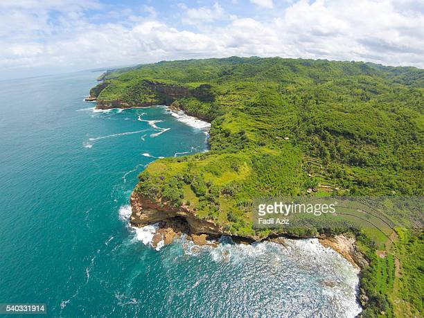 untamed southern coast of java - java stock pictures, royalty-free photos & images