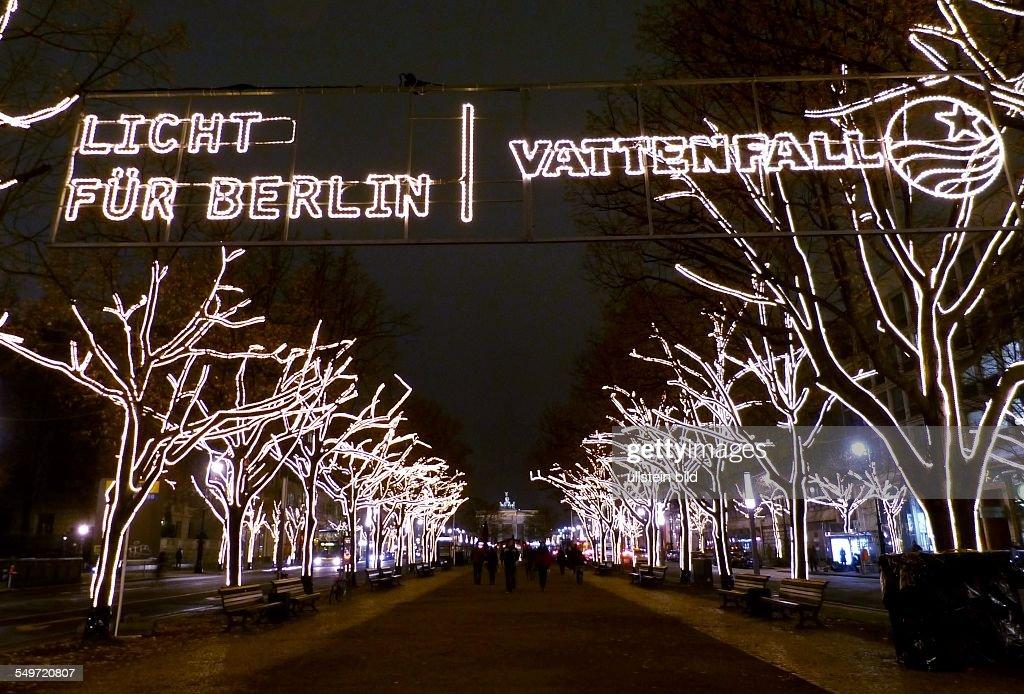 Unter Den Linden Weihnachtsbeleuchtung.Unter Den Linden Im Lichterglanz Vattenfall Startete Gestern Die