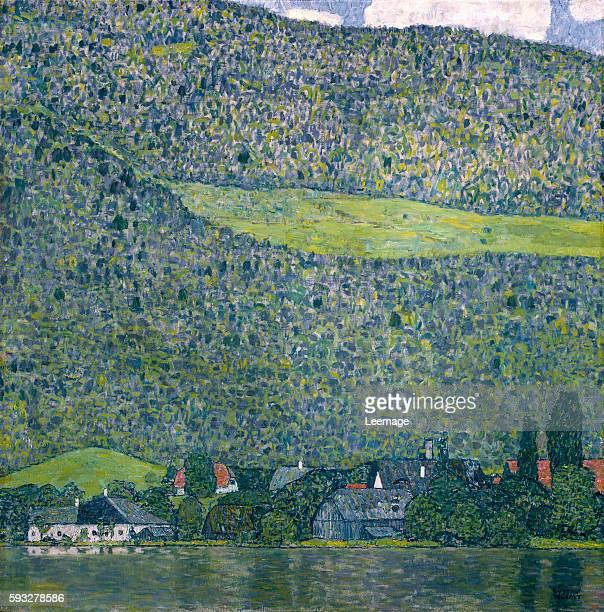 Unterach on Lake Attersee Austria Oil on canvas 110 x 110 cm by Gustav Klimt Rupertinum Salzburg Austria