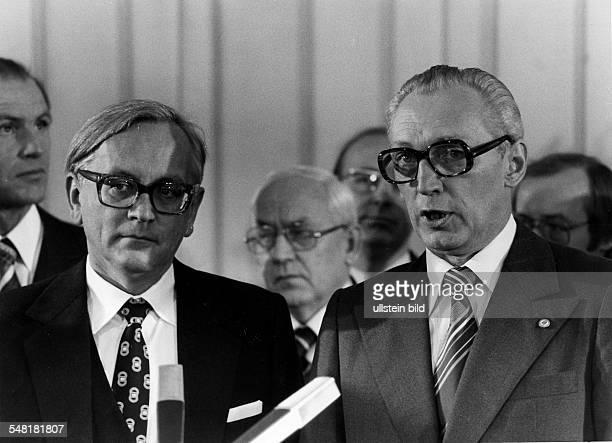 Unterzeichnung des Vertrages über die Autobahn Berlin - Hamburg und die Teltowkanal - Öffnung durch den Ständigen Vertreter der Bundesrepublik in der...