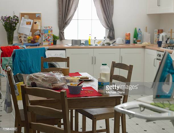 Untidy domestic kitchen