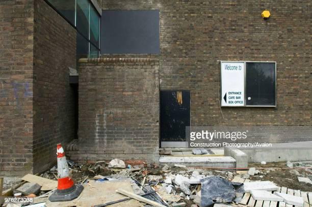 Untidy refurbishment site