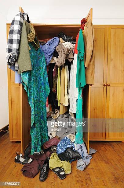 Untidy wardrobe