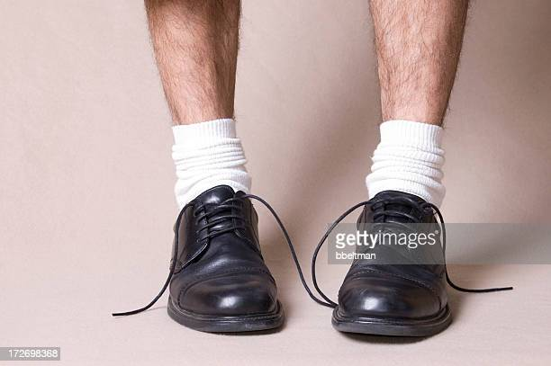 untied - hairy legs stock photos and pictures