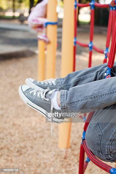 Untied shoe laces