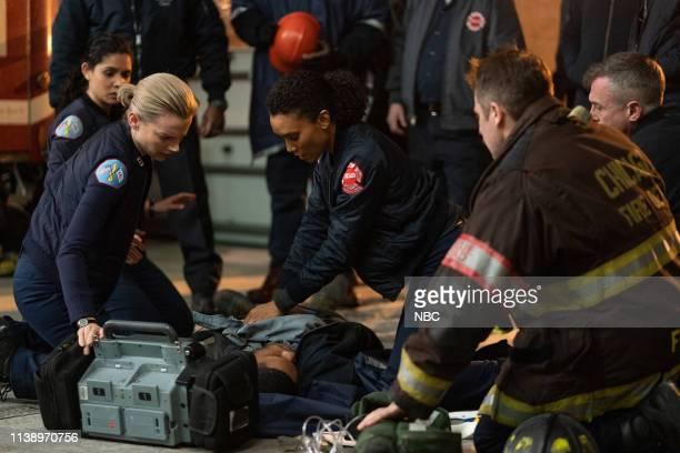 FIRE Until The Weather Breaks Episode 719 Pictured Kara Killmer as Sylvie Brett Annie Ilonzeh as Emily Foster