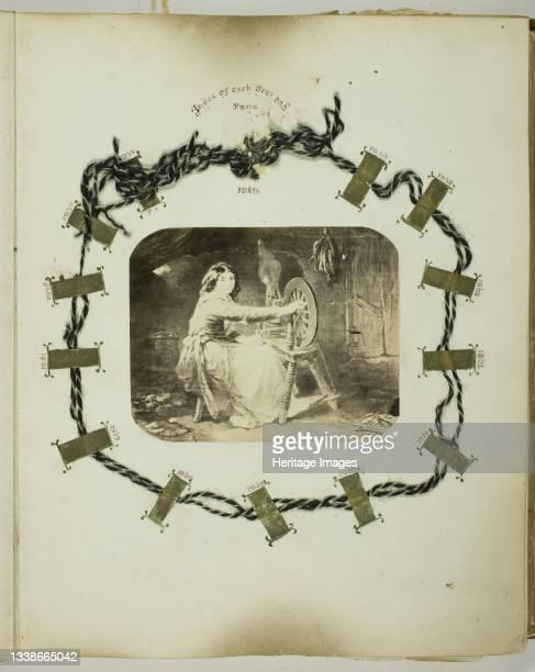 Untitled, 1855/68. A work made of albumen print, ink, and thread. Artist Georgina Cowper.