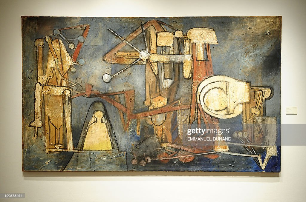 'Untitled' by Matta is on display during a preview of Christie's Latin American Art auctions, May 24, 2010 in New York. Christie's will hold its Latin American Art auctions on May 26 and 27, 2010. AFP PHOTO/Emmanuel Dunand