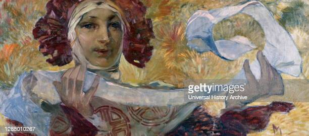Untitled', c1880-1930. Artist: Alphonse Mucha. Alphonse Maria Mucha is most often remembered for the prominent role he played in shaping the...