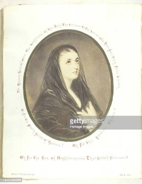 Untitled [pious woman in a veil], 1868. ['Oh for the Sin of Righteousness...']. Albumen print. Artist Georgina Cowper.
