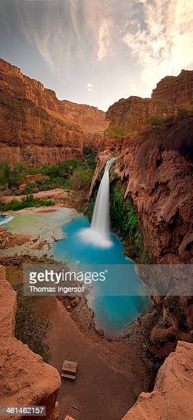 untitled_panorama11 - havasu creek stock photos and pictures