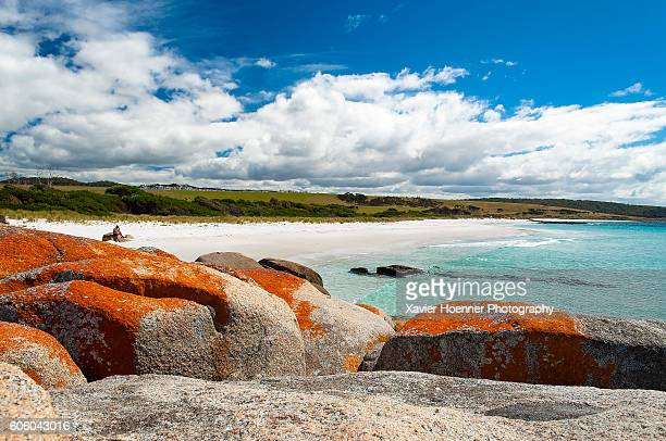 untouched | bay of fires | tasmania - tasmania stock pictures, royalty-free photos & images