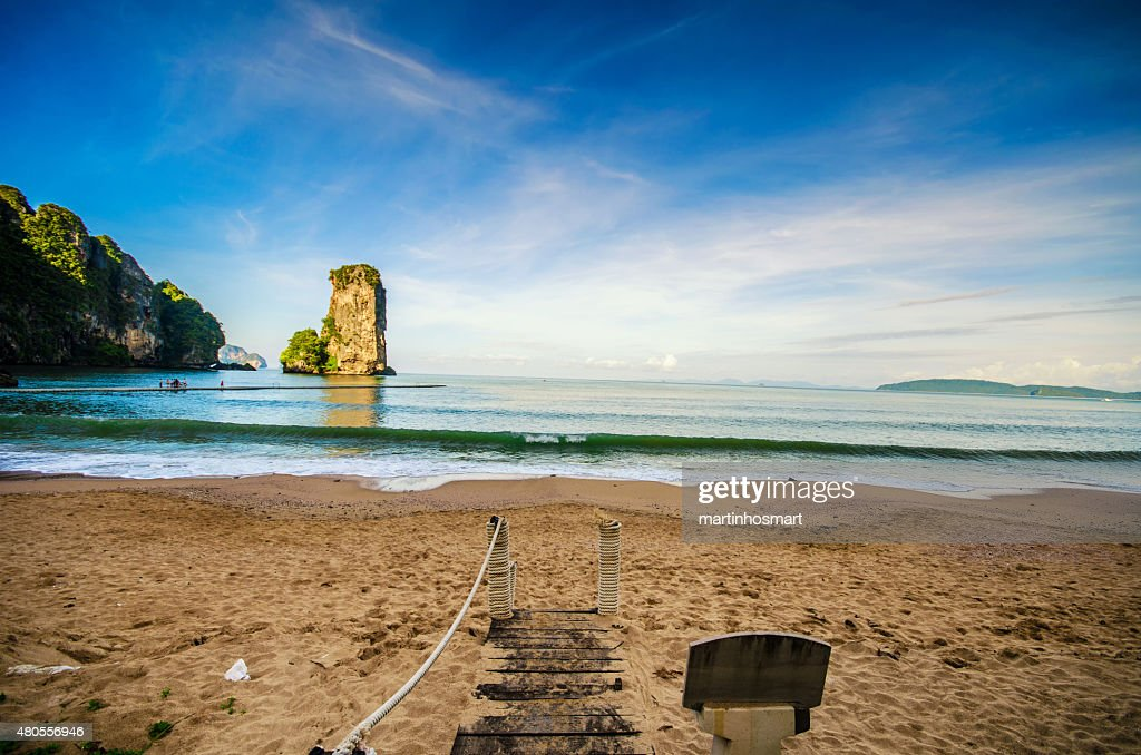Untouched tropical beach in Phuket : Stock Photo
