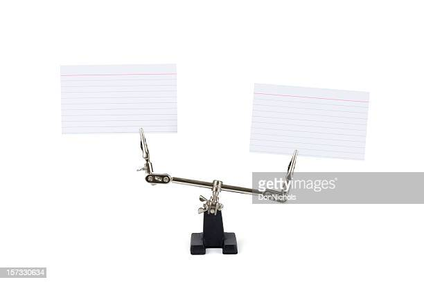 Unusual  Blank Index Card Display