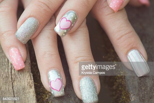 Unusual nail art stock photo getty images keywords prinsesfo Images