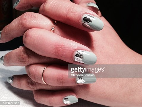 Unusual nail art stock photo getty images prinsesfo Images