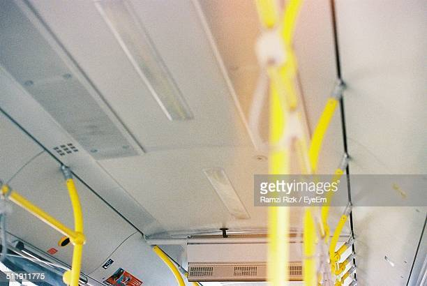Unusual point of view of inside of bus