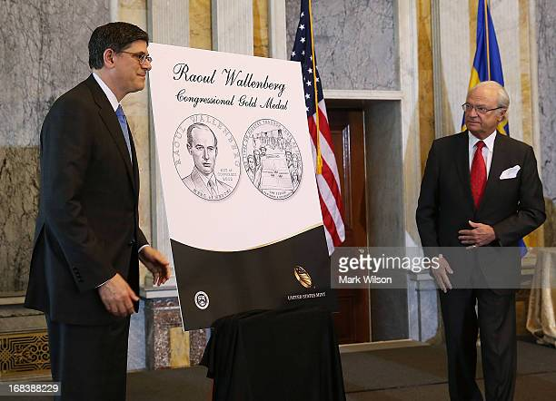 S unveil a portrait of the Congressional Gold Medal that will be posthumously presented to Raoul Wallenberg during ceremony at the Treasury...