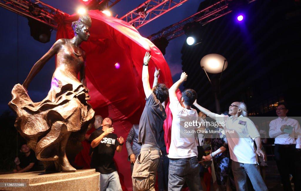 Unveiling ceremony of Anita Mui Yim-fong bronze statue at The Avenue of Stars, Tsim Sha Tsui. 18JUL14 : News Photo