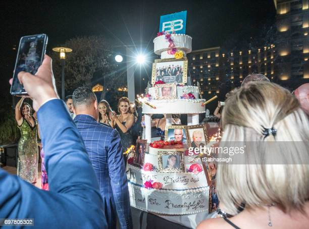 Unveiling of the 30th Anniversary cake at the 'The Bold and The Beautiful' 30th Anniversary Party during the 57th Monte Carlo TV Festival Day 3 on...
