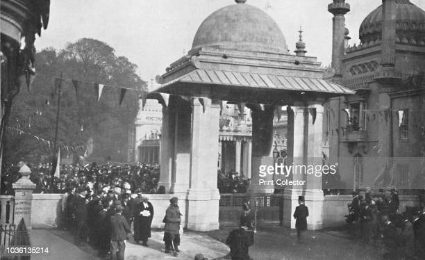 Unveiling of the Indian Memorial Gateway by HH The Maharaja of Patiala 26th October 1921' Maharaja Sir Bhupinder Singh unveils the Indian Memorial...
